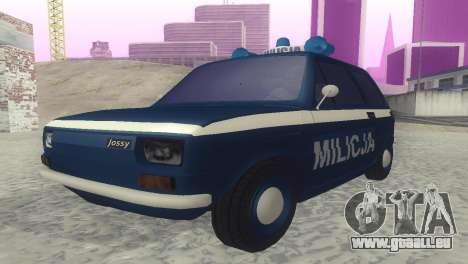 Fiat 126p milicja für GTA San Andreas