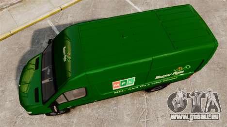 Mercedes-Benz Sprinter 2500 2011 Hungarian Post pour GTA 4 est un droit