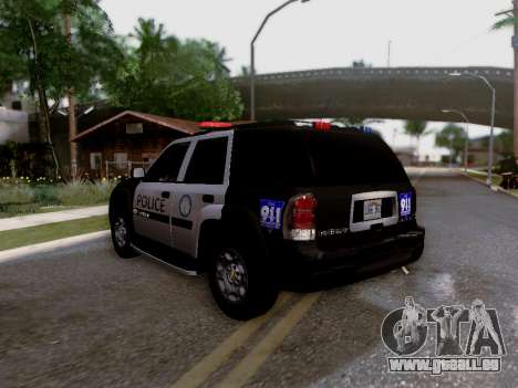 Chevrolet TrailBlazer Police pour GTA San Andreas vue intérieure