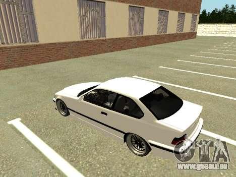 BMW M3 E36 Coupe pour GTA San Andreas vue arrière