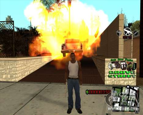 C-HUD West Side Grove Street für GTA San Andreas dritten Screenshot