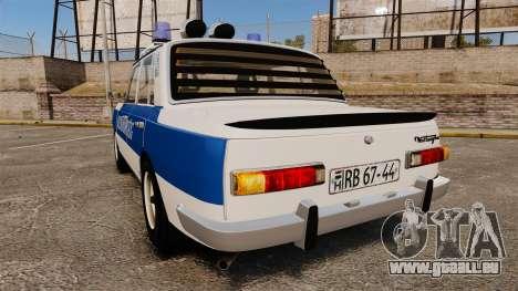 Wartburg 353w Deluxe Hungarian Police pour GTA 4 Vue arrière de la gauche