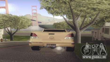 Mazda BT-50 Pro pour GTA San Andreas sur la vue arrière gauche