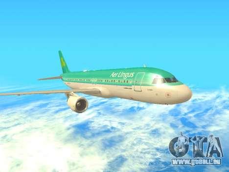 Airbus A320-200 Aer Lingus pour GTA San Andreas laissé vue