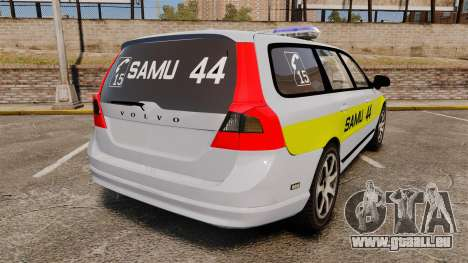 Volvo V70 SAMU 44 [ELS] für GTA 4 hinten links Ansicht