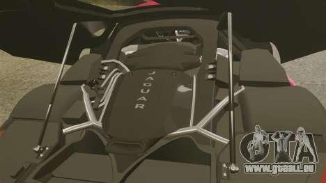 Jaguar C-X75 [EPM] pour GTA 4 est une vue de l'intérieur