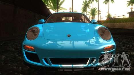 Porsche 911 Carrera GTS 2011 pour GTA San Andreas vue intérieure