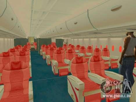 Airbus  A380-800 Sichuan Airlines für GTA San Andreas Räder