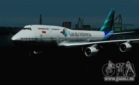 Boeing 747-400 Garuda Indonesia pour GTA San Andreas vue intérieure