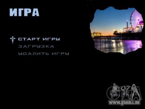 HQ Menu San Andreas pour GTA San Andreas deuxième écran