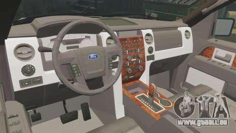 Ford F-150 2010 Liberty City Service Truck [ELS] pour GTA 4 est une vue de l'intérieur