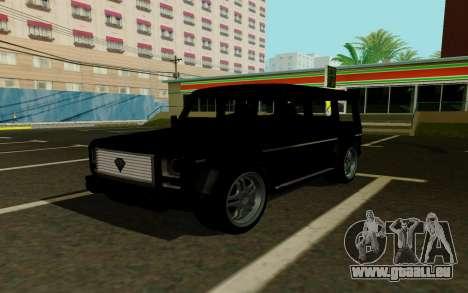 Benefactor DUBSTA pour GTA San Andreas vue arrière