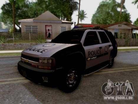 Chevrolet TrailBlazer Police pour GTA San Andreas vue arrière