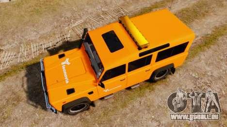 Land Rover Defender tecnovia [ELS] für GTA 4 rechte Ansicht