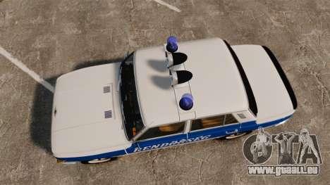 Wartburg 353w Deluxe Hungarian Police pour GTA 4 est un droit