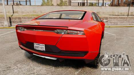 Lamborghini Estoque Concept 2008 pour GTA 4 Vue arrière de la gauche