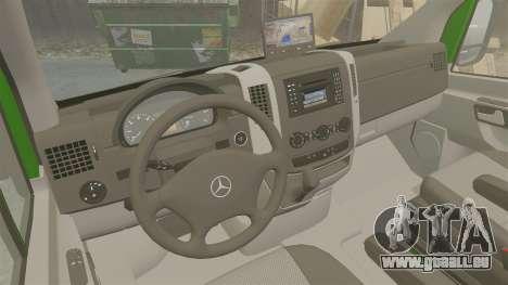 Mercedes-Benz Sprinter 2500 2011 Hungarian Post pour GTA 4 est une vue de l'intérieur