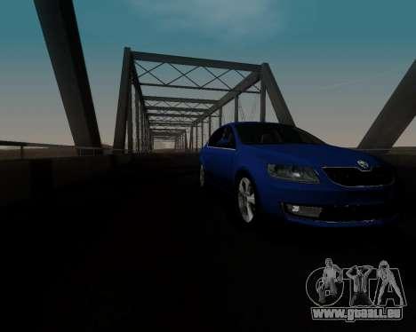 Skoda Octavia A7 pour GTA San Andreas vue de côté