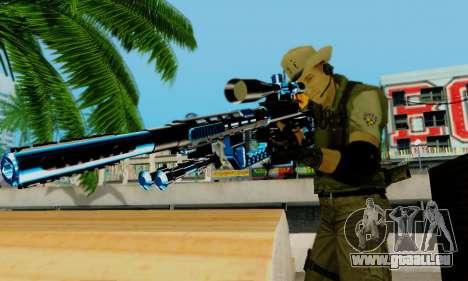 Resident Evil Apocalypse S.T.A.R.S. Sniper Skin pour GTA San Andreas septième écran