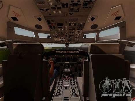 Boeing 737-800 Air Algerie pour GTA San Andreas vue de dessous