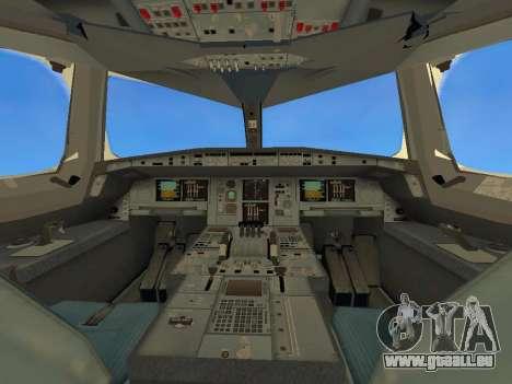 Airbus  A380-800 Sichuan Airlines pour GTA San Andreas vue de dessus