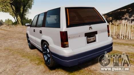 GTA V Albany Cavalcade pour GTA 4 Vue arrière de la gauche