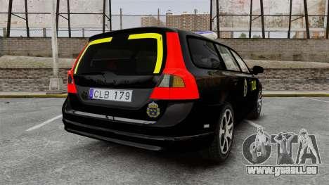 Volvo V70 Swedish TULL [ELS] für GTA 4 hinten links Ansicht
