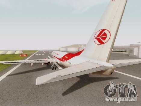 Boeing 737-800 Air Algerie pour GTA San Andreas vue de droite
