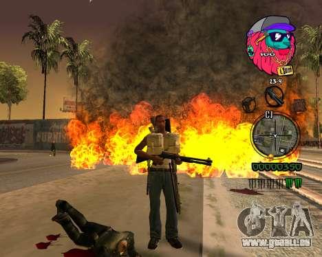 C-HUD Lion pour GTA San Andreas troisième écran