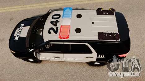 Ford Explorer 2013 LCPD [ELS] Black and Gray pour GTA 4 est un droit