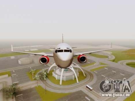 Boeing 737-800 Air Algerie für GTA San Andreas Seitenansicht