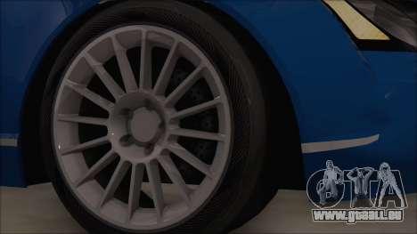 Maybach 57 TT Black Revel pour GTA San Andreas sur la vue arrière gauche