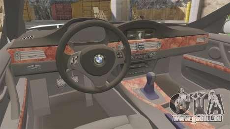 BMW 350i Japanese Police [ELS] pour GTA 4 est une vue de l'intérieur