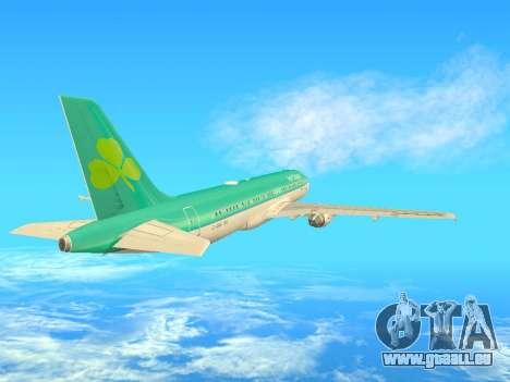 Airbus A320-200 Aer Lingus pour GTA San Andreas vue intérieure