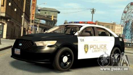 Ford Police Interceptor LCPD 2013 [ELS] für GTA 4 linke Ansicht