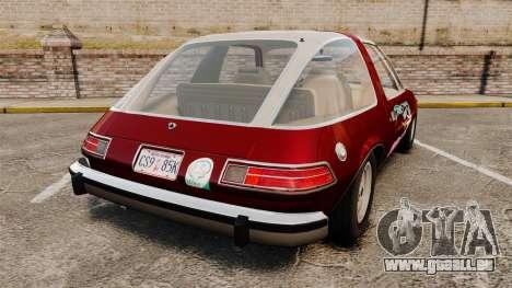 AMC Pacer 1977 v2.1 Miku pour GTA 4 Vue arrière de la gauche