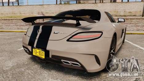 Mercedes-Benz SLS 2014 AMG NFS Stripes pour GTA 4 Vue arrière de la gauche