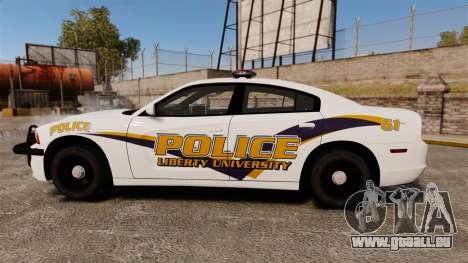 Dodge Charger 2013 Liberty University Police ELS für GTA 4 linke Ansicht