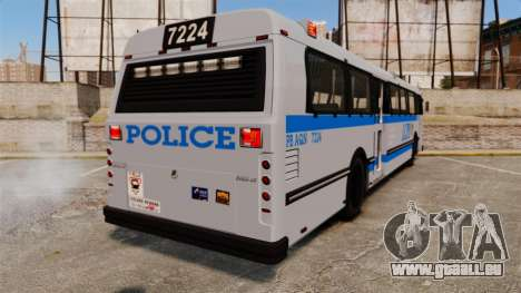 Brute Bus LCPD [ELS] pour GTA 4 Vue arrière de la gauche
