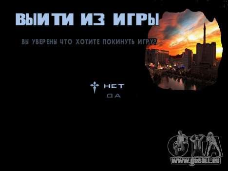 HQ Menu San Andreas pour GTA San Andreas huitième écran