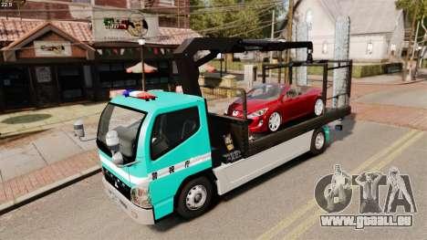 Mitsubishi Fuso Canter Japanese Auto Rescue pour GTA 4 est une vue de l'intérieur