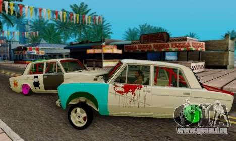 VAZ 2106 Crampes pour GTA San Andreas laissé vue
