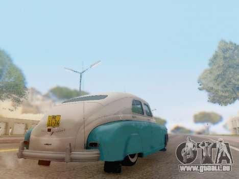 GAZ M-20 Pobeda pour GTA San Andreas vue arrière