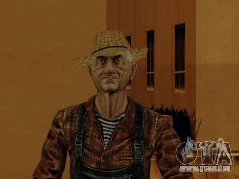 Agriculteur ou modifiée et complétée pour GTA San Andreas sixième écran