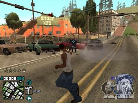 C-HUD Rifa in Ghetto pour GTA San Andreas troisième écran