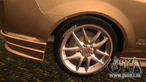 Honda Integra Type R pour GTA San Andreas sur la vue arrière gauche
