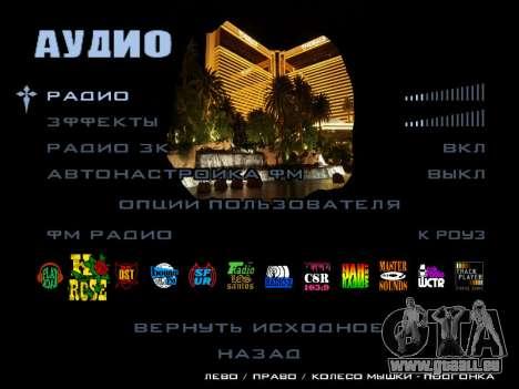 HQ Menu San Andreas pour GTA San Andreas septième écran