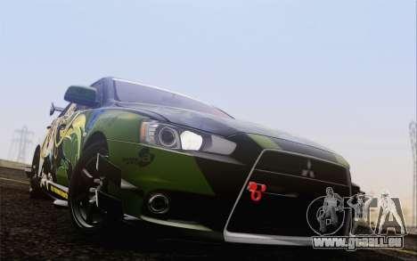 Mitsubishi Lancer Evolution X 2008 für GTA San Andreas Innenansicht