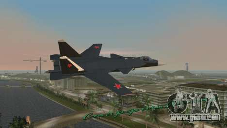Su-47 Berkut pour GTA Vice City sur la vue arrière gauche