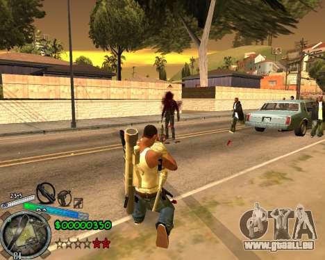C-HUD Gor Life Ghetto pour GTA San Andreas troisième écran